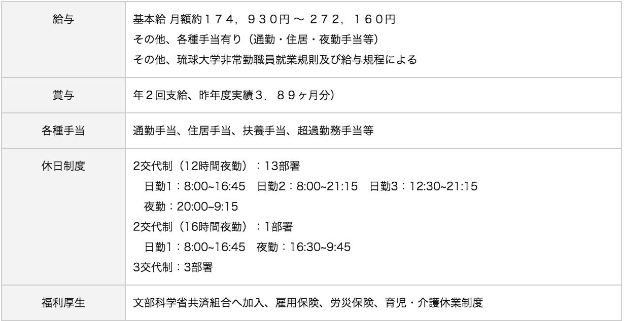 琉球大学医学部附属病院待遇