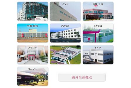 高砂香料工業の海外ネットワーク