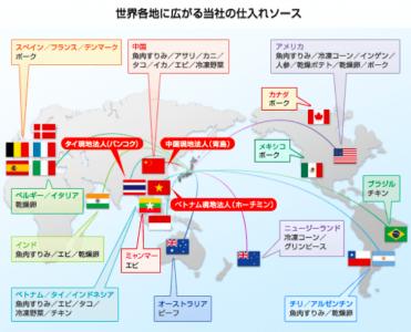 松田産業の海外事業(食品事業)
