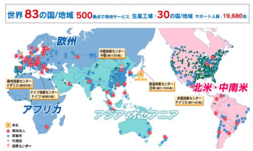 SMC株式会社の海外拠点