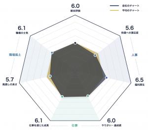 セイコーHDのレーダーチャート