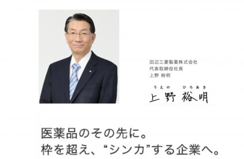 田辺三菱製薬のトップメッセージ