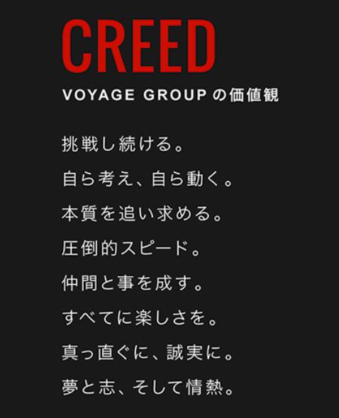 株式会社VOYAGE GROUPの「CREED」
