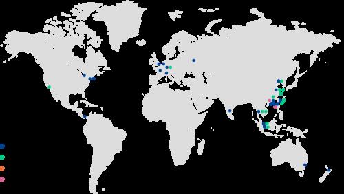 セイコーHDの海外拠点