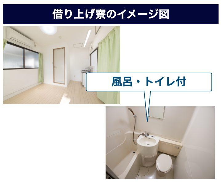 いすゞの風呂・トイレ付きの借り上げ寮