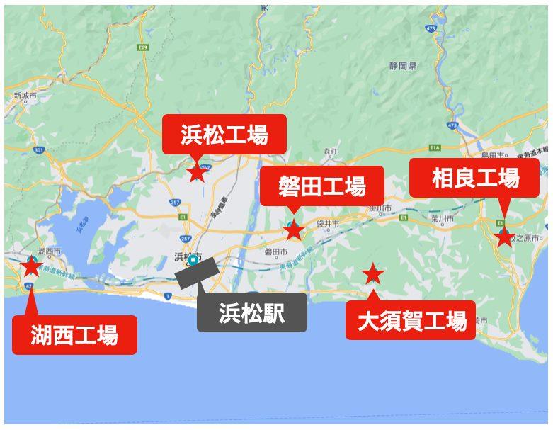 スズキ工場マップ<