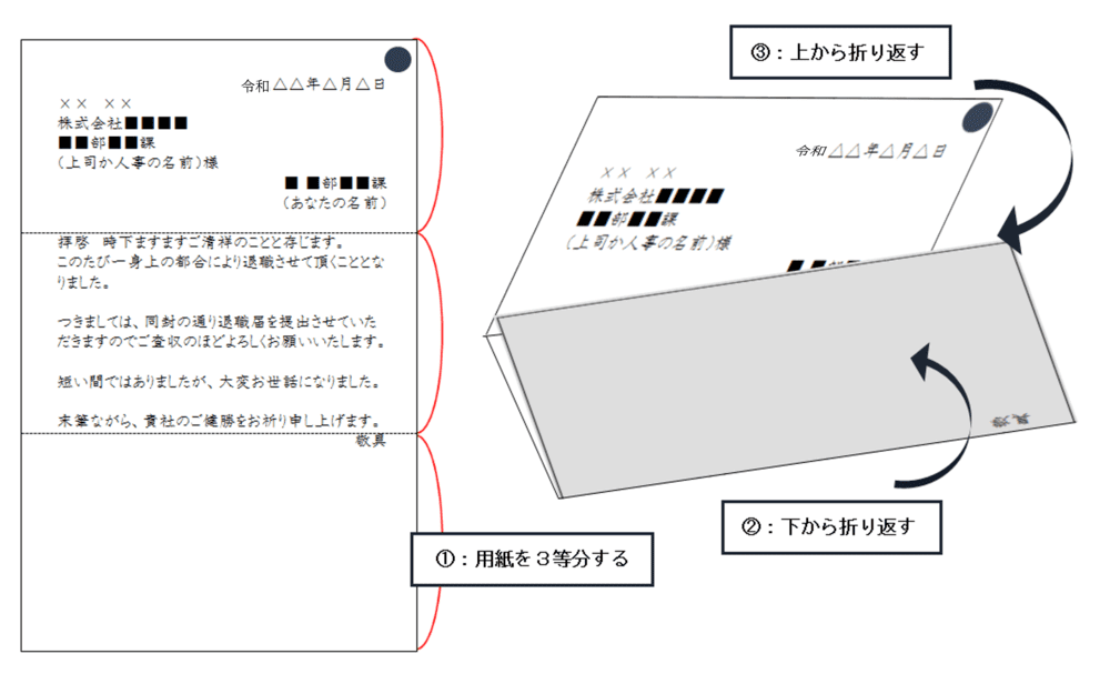 添え状 用紙の折り方 令和