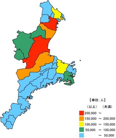 三重県の人口