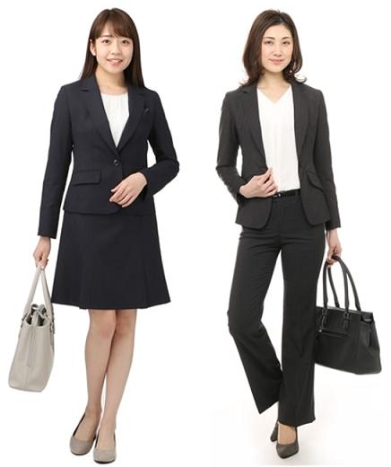 面接スーツ女性